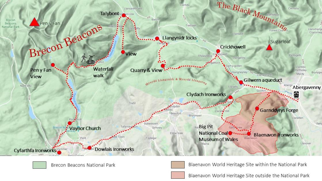 Hobbits and World Heritage route map